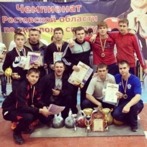 Персиановский проходили первенство и чемпионат Ростовской области по гиревому спорту среди юношей