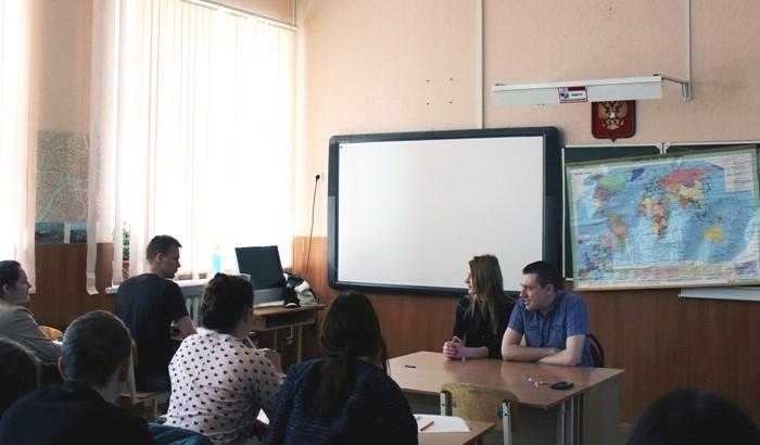 Встреча учащихся 11 класса и выпускников прошлых лет