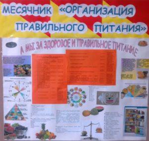Месячник «Организация правильного питания»