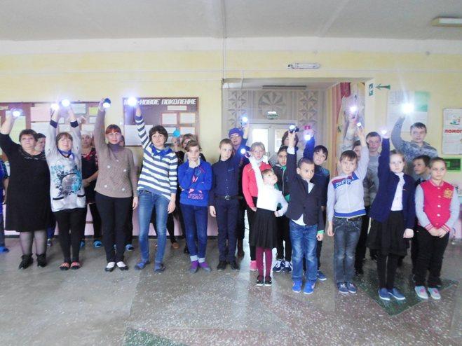 Акция  «Зажги синим» в Кривовской школе