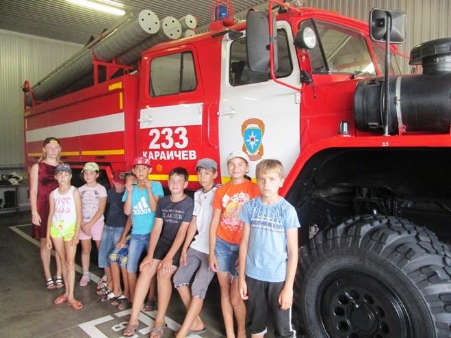 В гостях в пожарной части