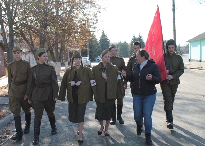 Школьные мероприятия в честь Парада на Красной Площади 7 ноября 1941 г.