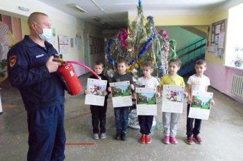 Занятие по пожарной безопасности в Кривовской ООШ